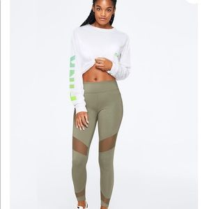PINK Victoria's Secret Pants - VS PINK High Waist Cotton Mesh Leggings